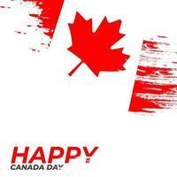 Happy canada day beautiful vector