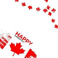 Beautiful red canada day happy frame vector