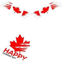 Happy canada day frame beautiful transparent background vector
