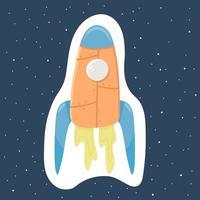 A fun rocket for space flight vector