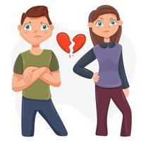 conflicto familiar entre marido y mujer vector