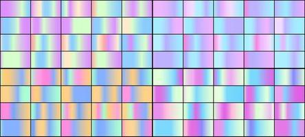 vector conjunto de gradientes holográficos de neón de colores