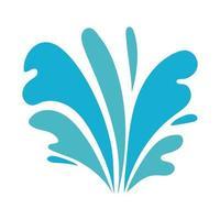 water ocean splash flat style icon vector