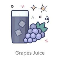 Grapes Juice and Refreshing Drink vector