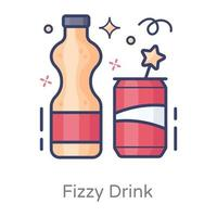Fizzy Drinks and Refreshment vector