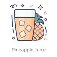 Pineapple Juice and Refreshing Drink vector