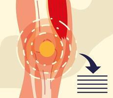 rheumatology knee banner vector