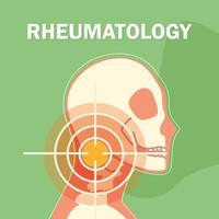 rheumatology head bones vector
