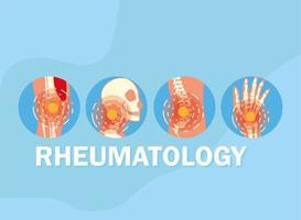 rheumatology icon set vector