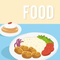arabic food and dessert vector