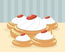 arabic sweet dessert vector