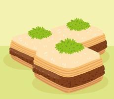 baklava food design vector