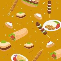arabic food background vector