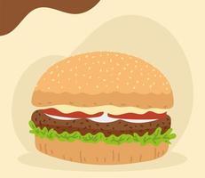 hamburger food design vector