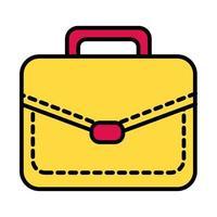 portfolio briefcase line and fill style icon vector