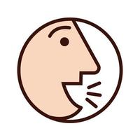 person coughing sick line and fill style icon vector