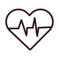 icono de estilo de línea de cardio del corazón vector