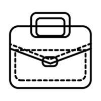portfolio briefcase line style icon vector