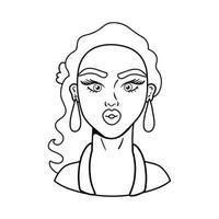 icono de estilo de arte pop de mujer vector