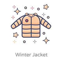 prenda de chaqueta de invierno vector