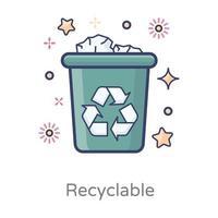 Recycle Bin Design vector