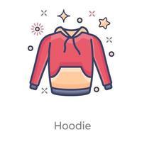 Hoodie sweat shirt vector