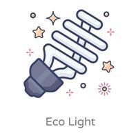 diseño de ahorro de energía vector