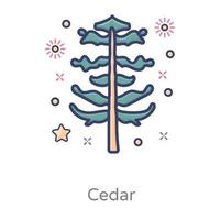 Cedar Tree Design vector