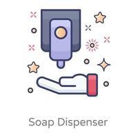 dispensador de jabón líquido vector