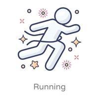 Running Race Pose vector