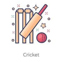 Cricket Sports Design vector