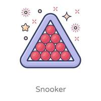 Snooker Modern Design vector