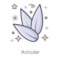 Acicular Needle Shaped Crystals vector