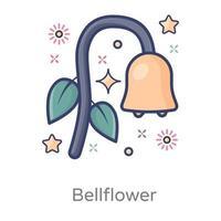 Bellflower Floral Design vector