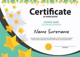Multipurpose Professional Certificate Template Design kids and teen vector