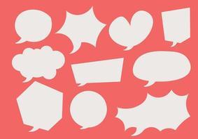 comic speech bubbles collection magenta background vector