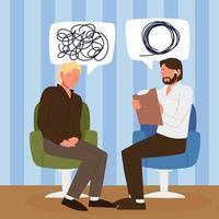therapist patient talking vector