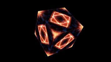 evig magisk låga kub tom yta energi yta video