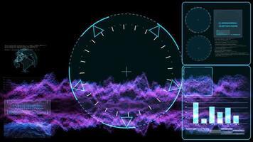 glaskristallkula och radar undersöker digital teknik video