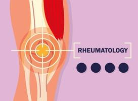 rheumatology knee pain vector