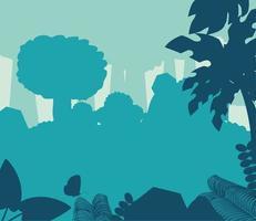 silueta de los árboles del bosque vector