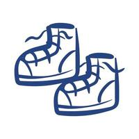 tennis shoes free form style icon vector
