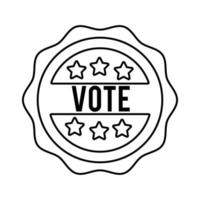 vote word in lace usa elections line style icon vector
