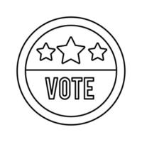 vote word in circle stamp usa elections line style icon vector