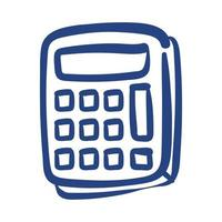 calculator math device free form style icon vector