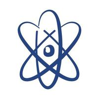 atom molecule free form style icon vector