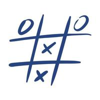tic tac toe game free form style icon vector