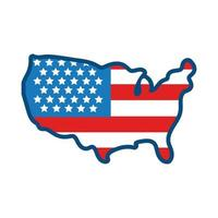 usa elections flag in map flat style icon vector