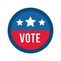 vote word in circle stamp usa elections flat style icon vector