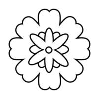 mid autumn decorative flower yellow and pink line style icon vector